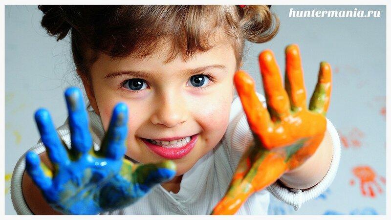 Пальчиковые краски. Первое в жизни творчество