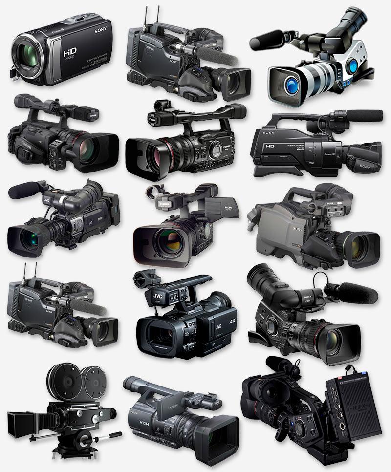 Видеокамеры, шаблоны PNG