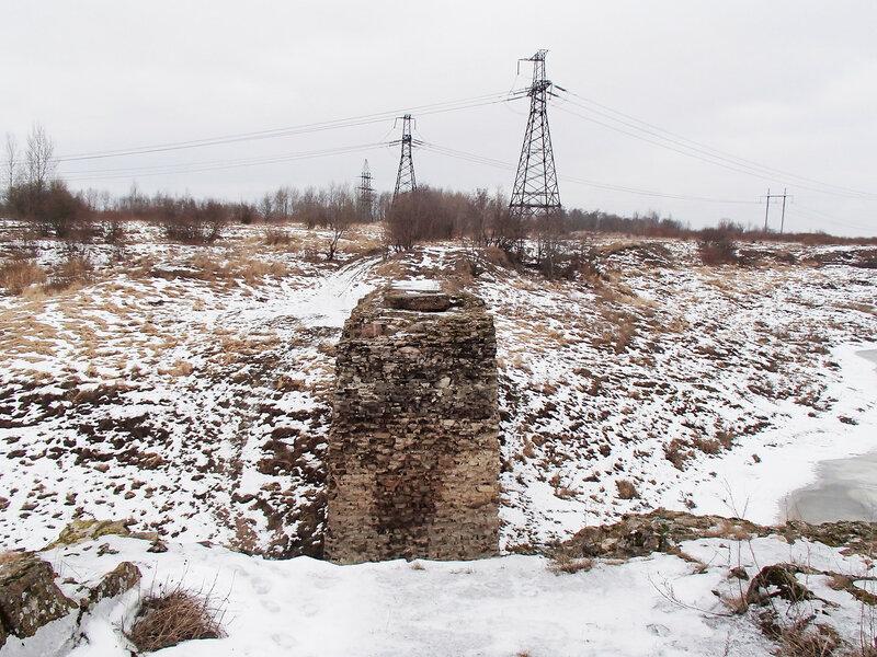 мост на втором пути Императорской железной дороги через Кузьминку