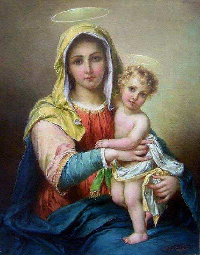 Благословляющий христос и дева мария в молитве, год, филадельфия.
