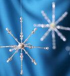 Технология бисероплетения, плетение снежинки из бисера, как сделать снежинку из бисера, снежинки из бусин...