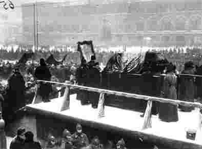 Красная площадь. Похороны Ленина