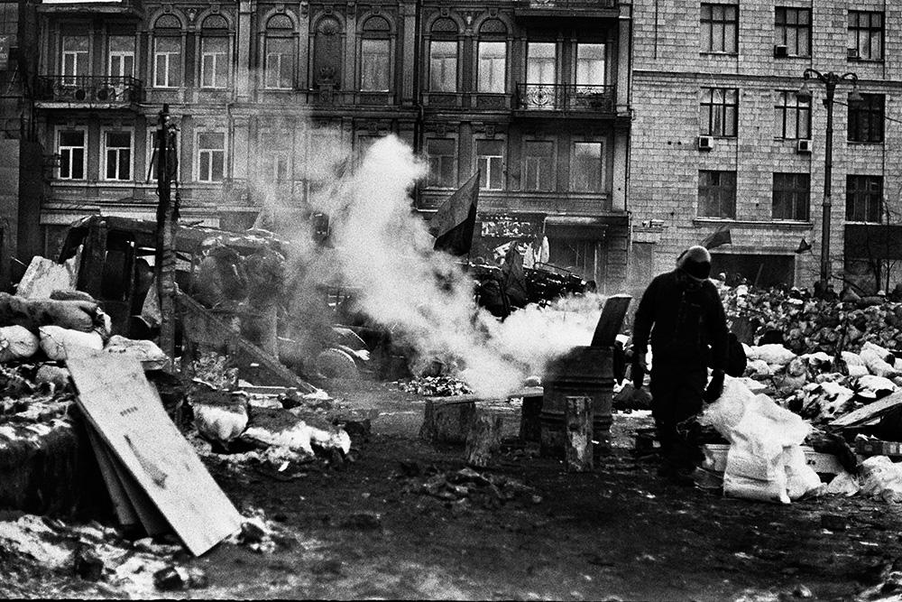 Евромайдан черно-белое © Никита Перфильев