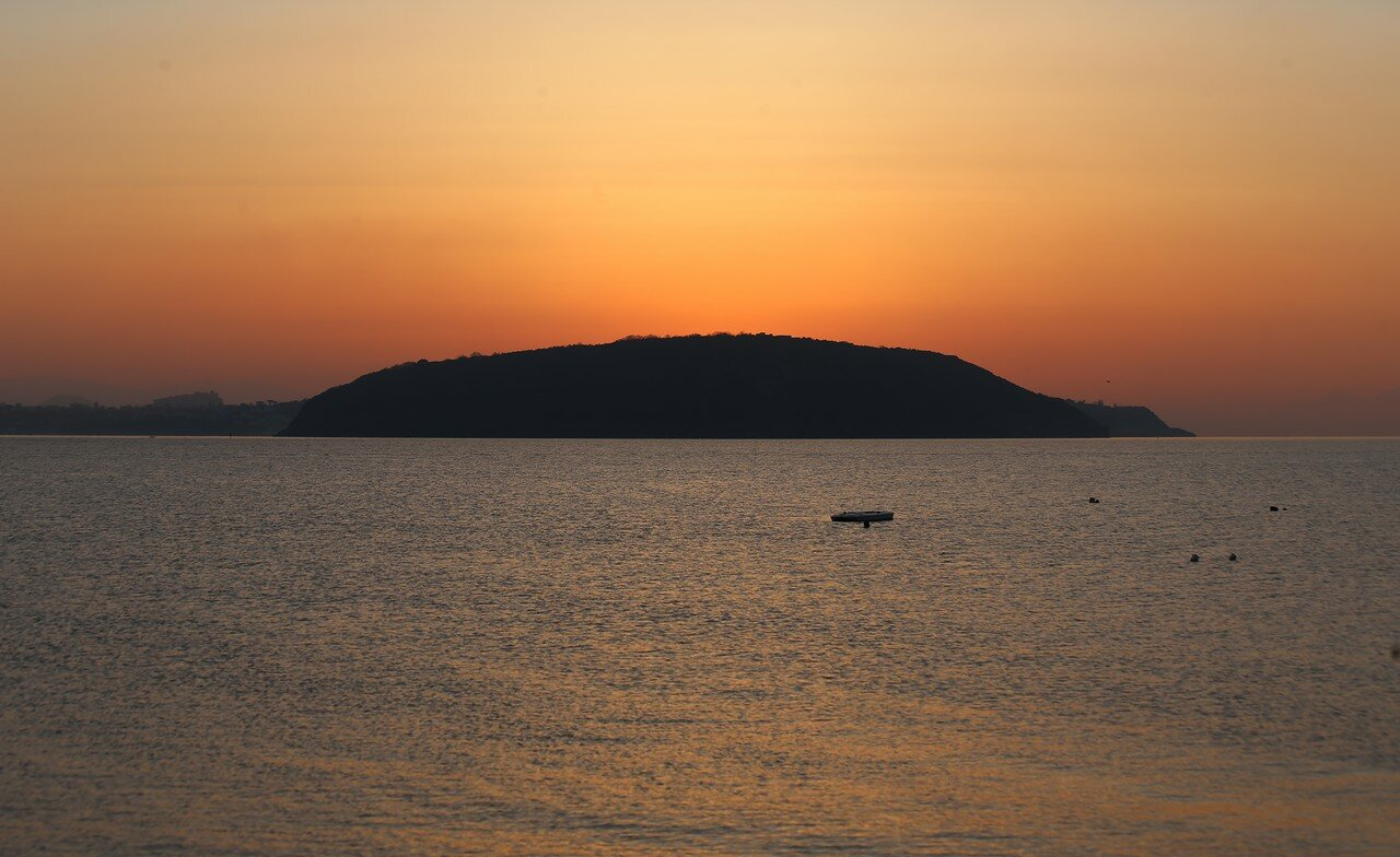 Dawn in the Bay of Naples. The Island Of Procida.