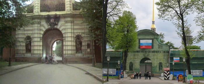 45. У Петровских ворот крепости.