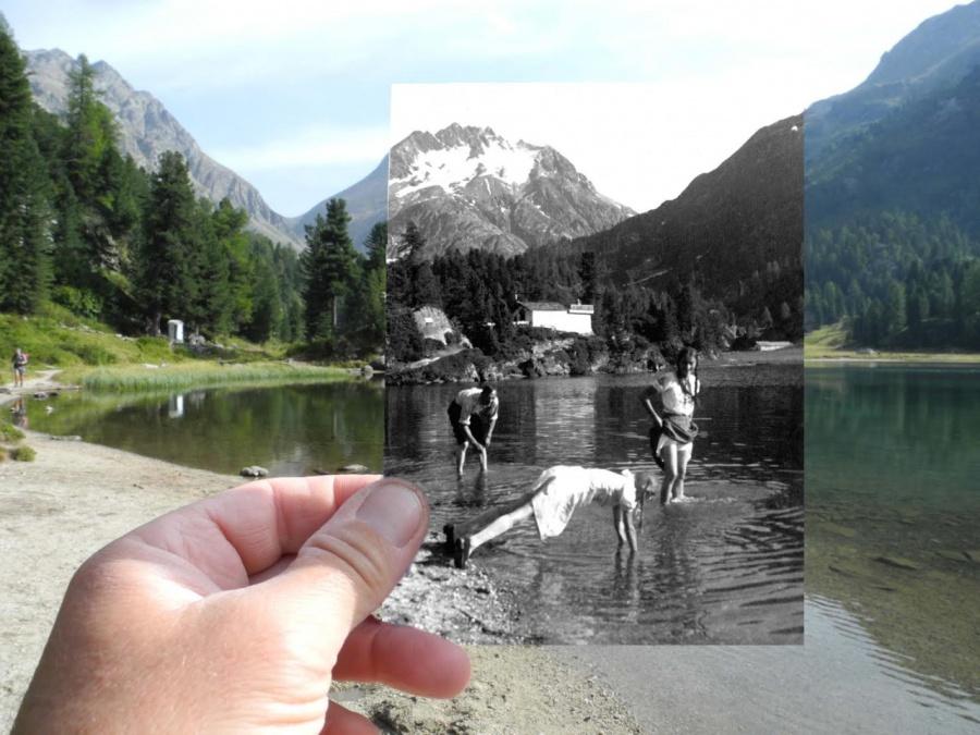 «70лет прошло стех пор, как юная мама танцевала вэтом озере. Как жаль, что это неисточник вечной