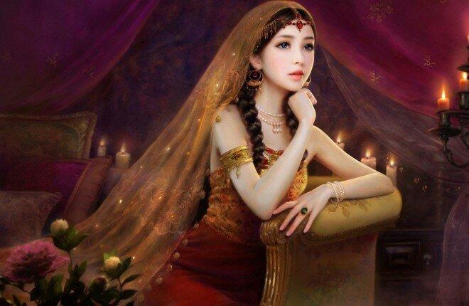 Самые красивые портреты китаянок в традиционной живописи
