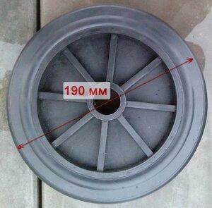 Колесо бетономешалки Альтрад, посадочный диаметр оси 25 мм, ступица 55 мм