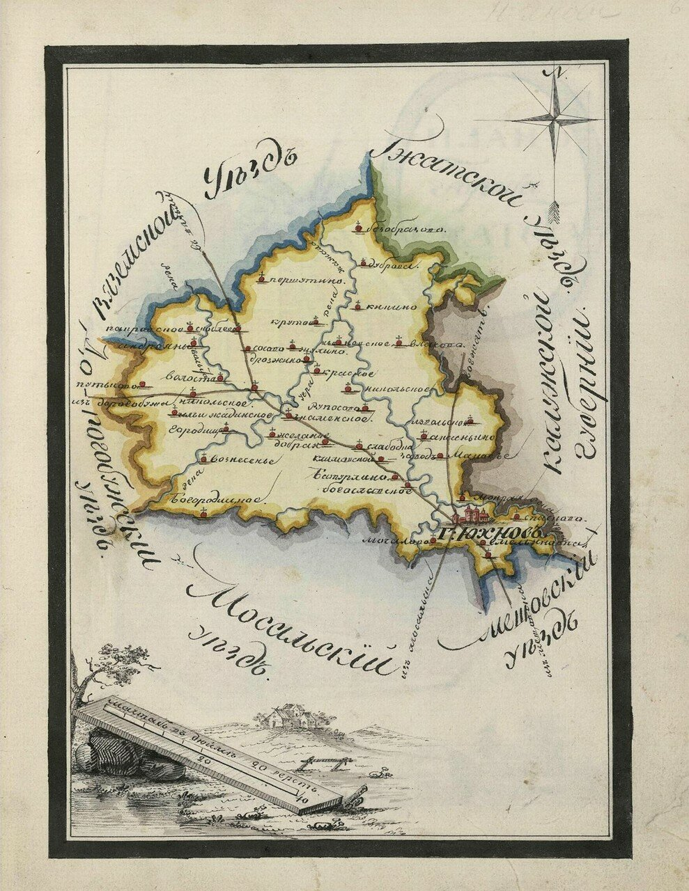 Карта Юхновского уезда