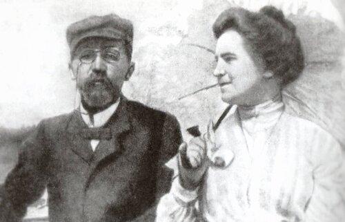 Антон Павлович и Ольга Леонардовна. На даче у Станиславского (в Любимовке)