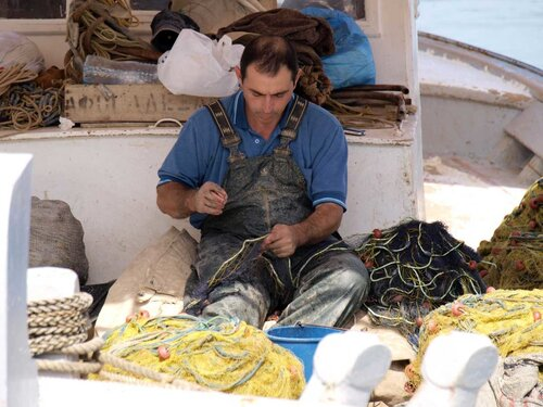 Рыбак в сети