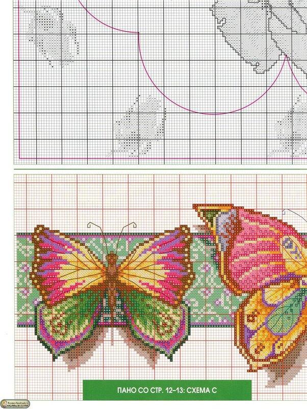 Узоры для вышивки бабочки