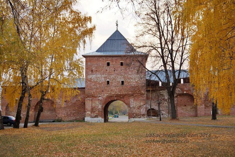 Богоявленская (Егорьевская) башня. Зарайский кремль