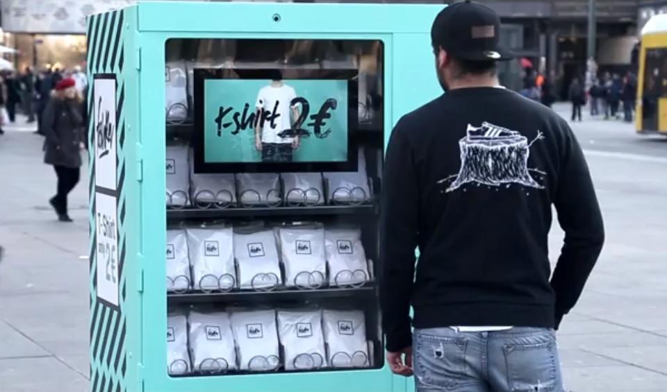 электронный автомат по продаже футболок