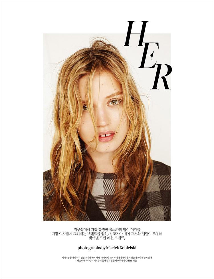 Джорджия Мэй Джаггер (Georgia May Jagger) в журнале W Korea