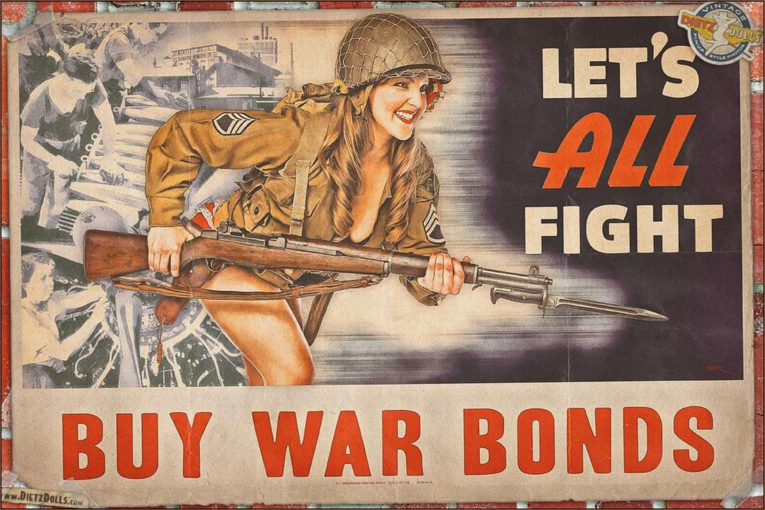 Армейский pin-up в стиле 1940-х годов от американского художника Britt Dietz (24)