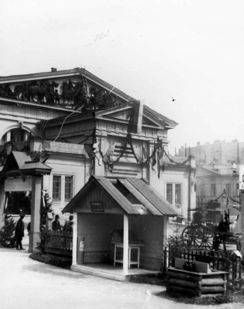 46. Домик с тесовой крышей в качестве экспоната выставленного в секторе сельского огнестойкого строительства
