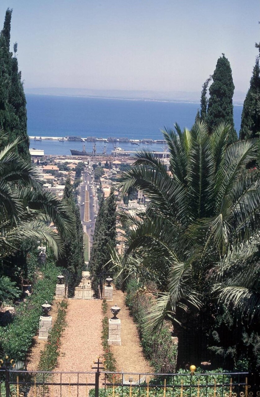 11. Вид на залив с территории Бахайского храма