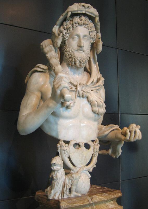 Император Коммод в образе Геркулеса