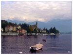 Деревенька Тремедзо на озере Ларио, Италия
