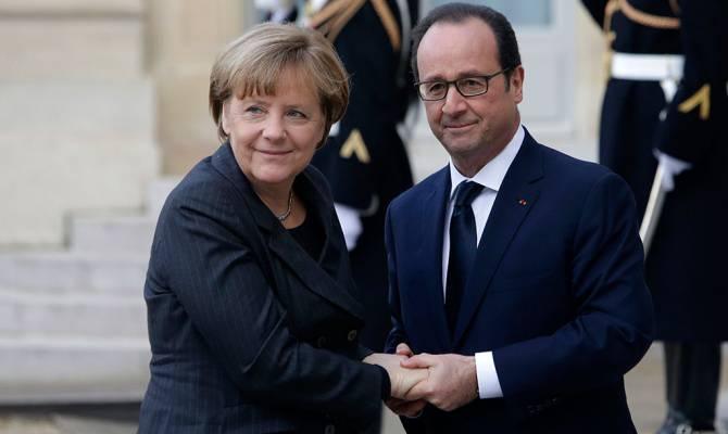 Меркель и Олланд не исключают возможности обсуждения санкций против РФ на саммите ЕС