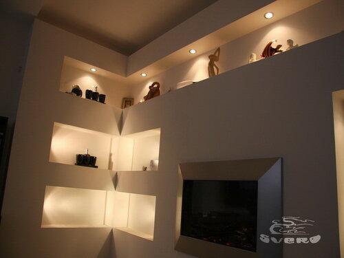 004. холл, интерьер, инсталляция из гипсокартона