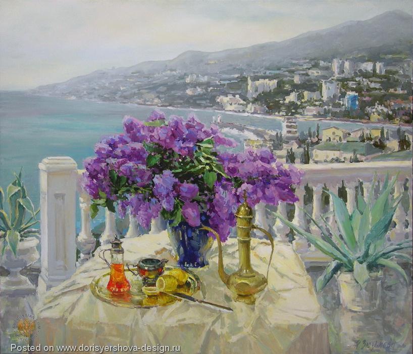 цветы и море, живопись, блог Дорис Ершовой, живопись для настроения
