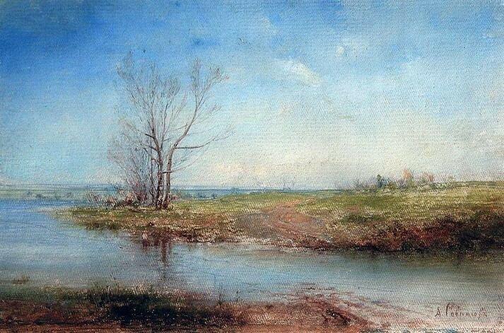 А.К. Саврасов. Весна (этюд). 1870-е гг.