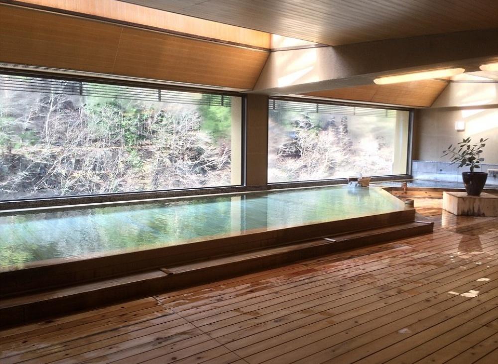 Визитная карточка заведения— горячие ванны, питаемые подземными источниками.