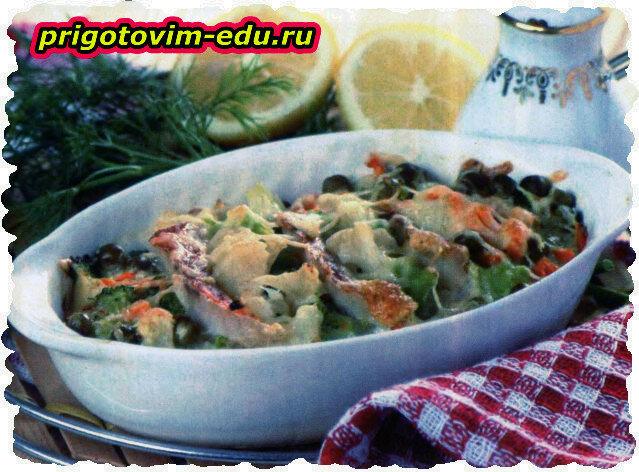 Рыбная запеканка с цветной капустой