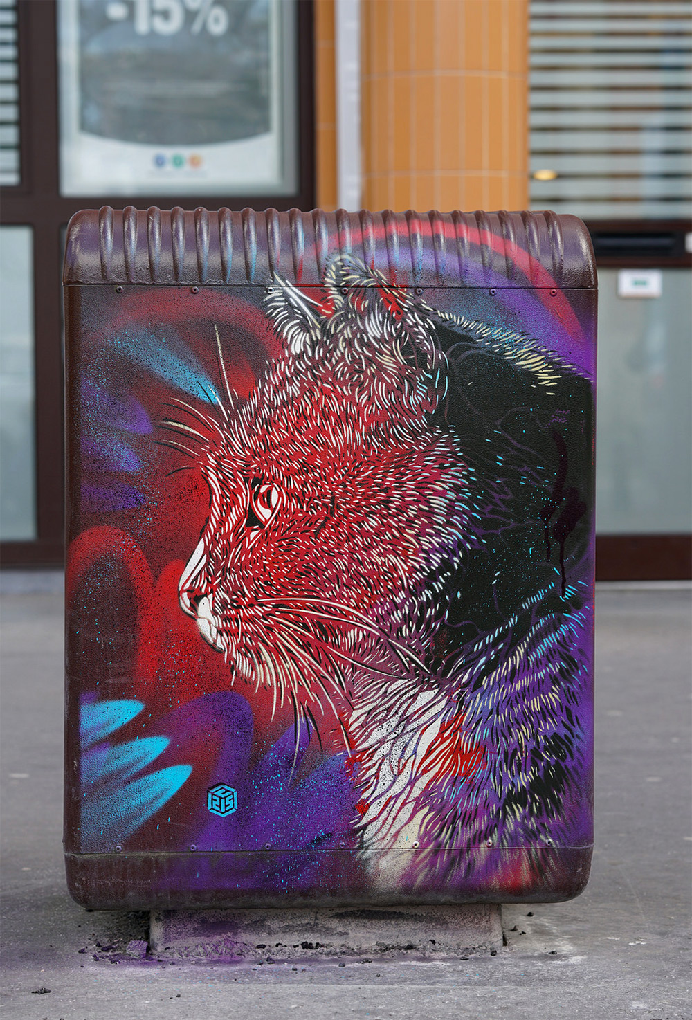 Stenciled Cats by C215 Prowl the Streets (9 pics)