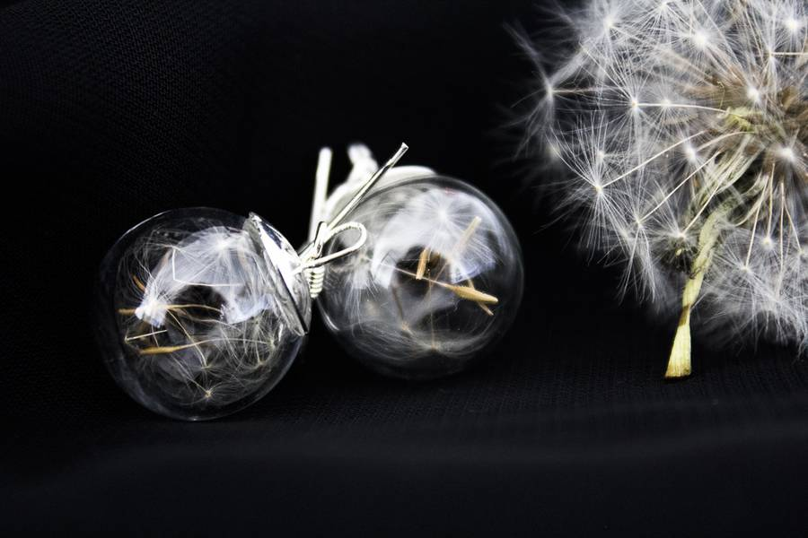 Boucles d'oreilles EcoChic Pissenlit by DreamCatcherLab.