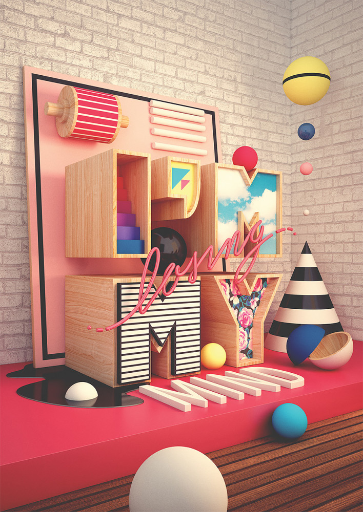 3D Illustrations by Pedro Veneziano
