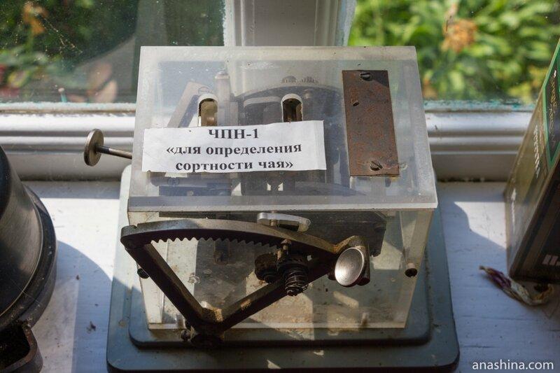 Аппарат для определения сортности чая, усадьба Кошмана