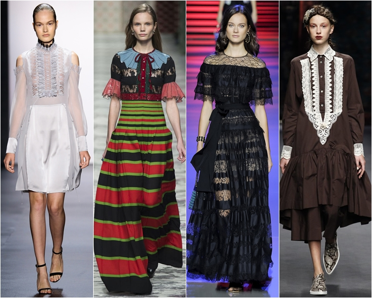 модный фасон платья 2016: викторианские платья