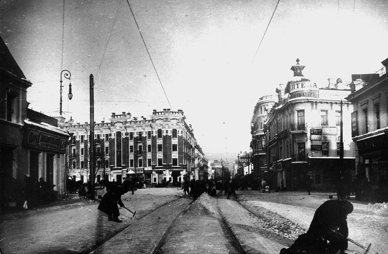 Зубовская площадь. Вид в сторону улицы Пречистенка