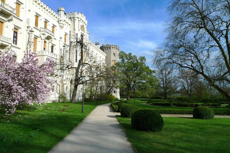 Замковый парк. Глубока над Влтавой
