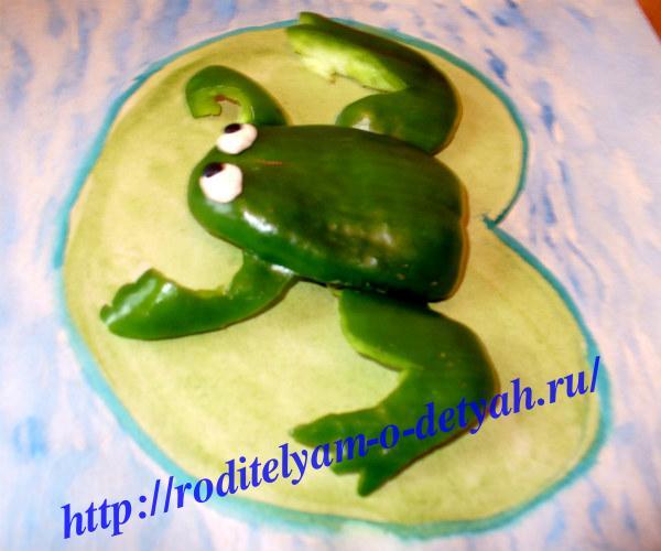 Как сделать лягушка из перца и 258