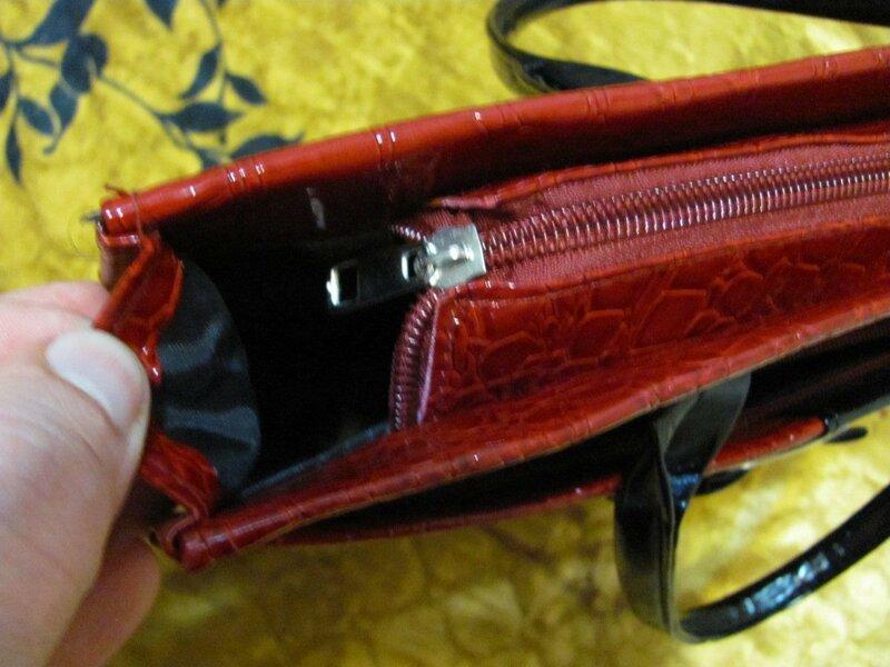 ChinaBuye: Красная женская сумка «под крокодила»