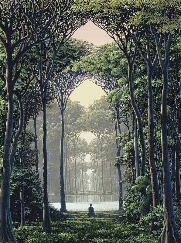 2010_На внутренний пейзаж (En el paisaje interior)_60.3 x 45_холст, акрил_Томас Санчес.jpg