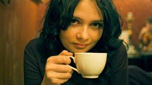 Кофе девушка, портрет, вечер, da_risa, Наталья, фотосессия