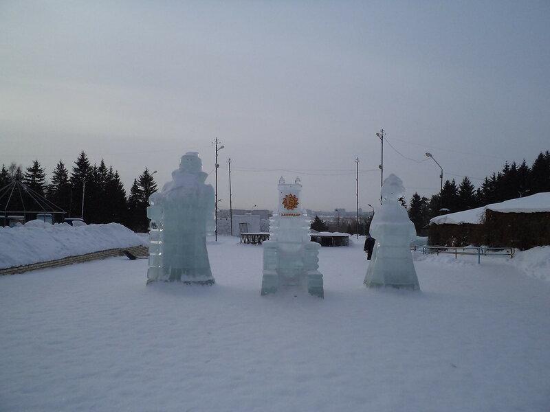 Омск. Зима в Советском парке