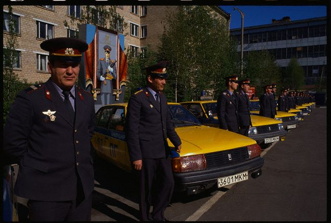Russian Police Outside of Headquarters
