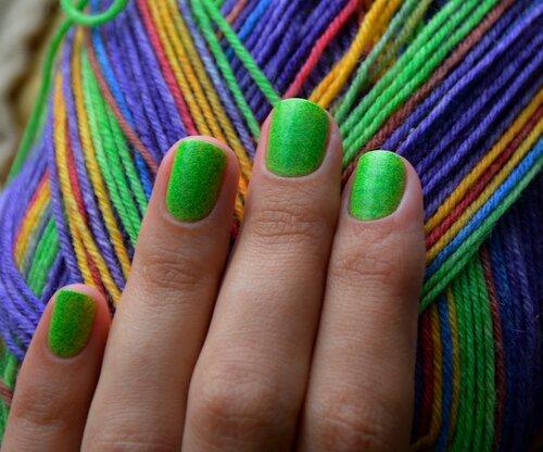 el corazon, грезы о весне, цветик семицветик, лак цветик семицветик, маникюр, лакоманьяк, эль коразон, лак для ногтей, зеленые ногти