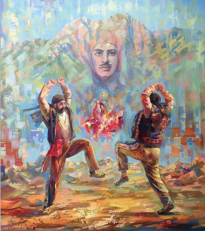 Меружан Хачатрян. Горы и солнце.