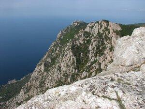 вид на мыс Айя с вершины Куш-Кая