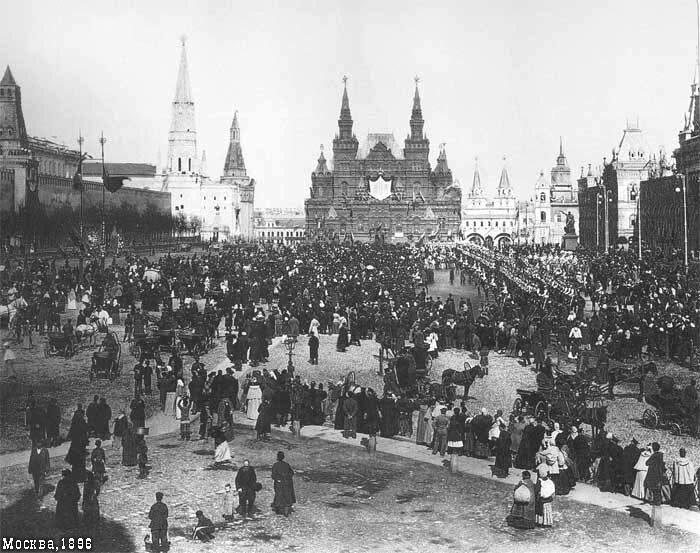 Красная площадь во время коронационных торжеств