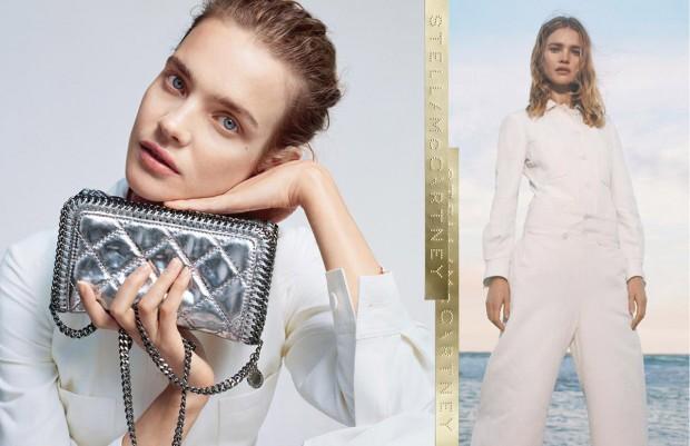 Наталья Водянова (Natalia Vodianova) в рекламной фотосессии для Stella McCartney (3 фото)