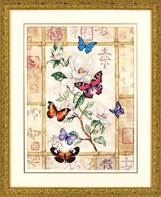 Журнал схема вышивки Бриллиантовые бабочки
