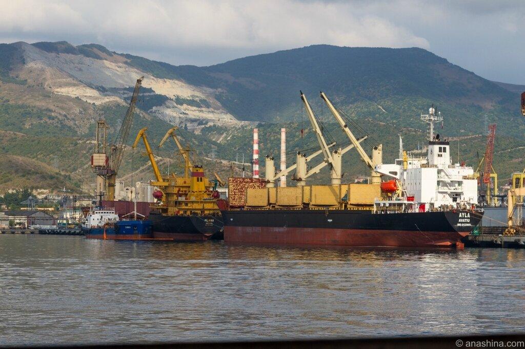 Суда в Новороссийском порту